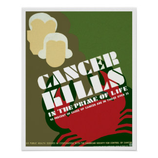 Cancer Kills ~ In The Prime Of Life Poster