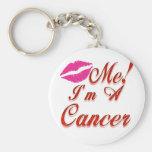 cancer kiss me zodiac key chain