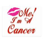 cancer kiss me zodiac postcard