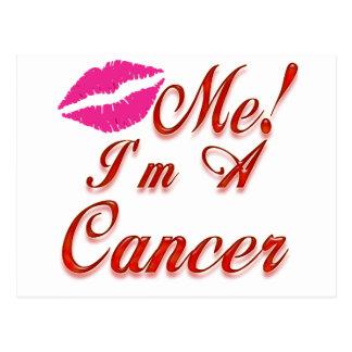 cancer kiss me zodiac postcards