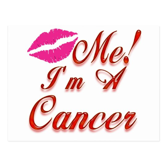 cancer kiss me zodiac postcard