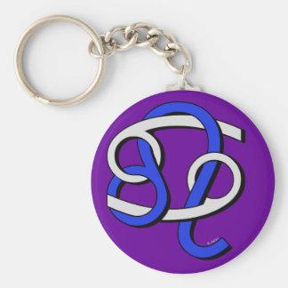 Cancer & Leo GyB Basic Round Button Keychain