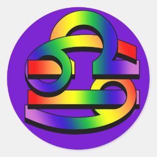 Cancer & Libra GLBT Classic Round Sticker