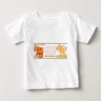 Cáncer llevado toro de madera 1985 del zodiaco de playera de bebé