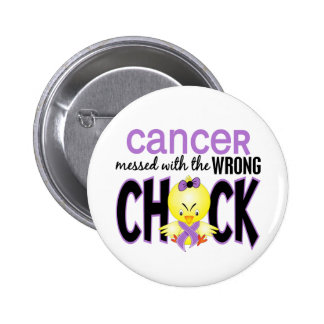 Cancer Messed With The Wrong Chick 2 Inch Round Button