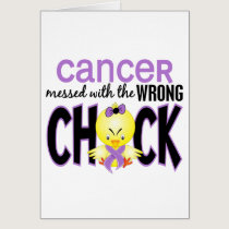 Cancer Messed With The Wrong Chick Card