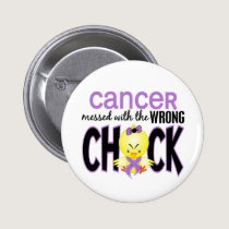 Cancer Messed With The Wrong Chick Pinback Button
