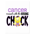 Cancer Messed With The Wrong Chick Postcard