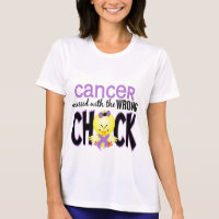 Cancer Messed With The Wrong Chick T-Shirt