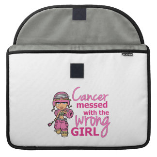 Cancer Messed With The Wrong Girl 2 Breast Cancer MacBook Pro Sleeve