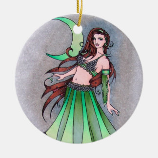 Cancer moon belly dancer christmas ornament