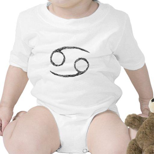 Cáncer. Muestra de la astrología del zodiaco Trajes De Bebé