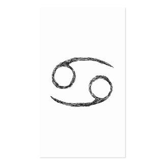 Cáncer. Muestra de la astrología del zodiaco Tarjetas De Visita