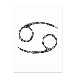 Cáncer. Muestra de la astrología del zodiaco Tarjetas Personales