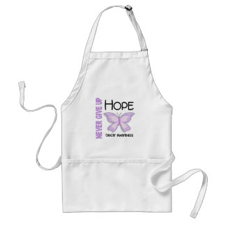 Cancer Never Give Up Hope Butterfly 4.1 Adult Apron