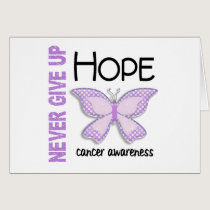 Cancer Never Give Up Hope Butterfly 4.1 Card