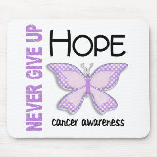 Cancer Never Give Up Hope Butterfly 4.1 Mouse Pad
