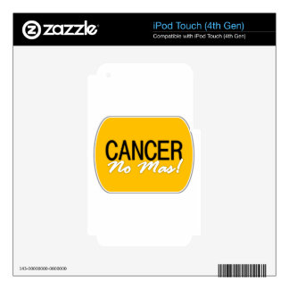 Cancer No Mas Products Skins For iPod Touch 4G