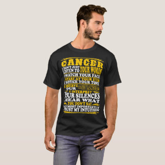 Cancer Observe Interpret Trust Intuition Tshirt