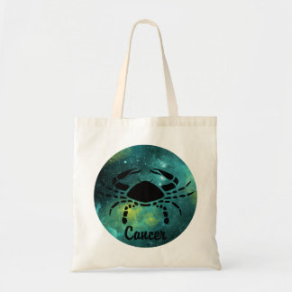 Cancer on Space Background Tote Bag