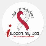 CÁNCER ORAL apoyo a mi papá Etiquetas Redondas
