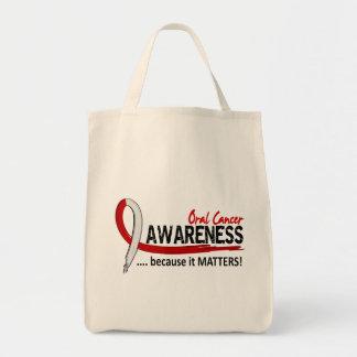 Cáncer oral de la conciencia 2 bolsa tela para la compra