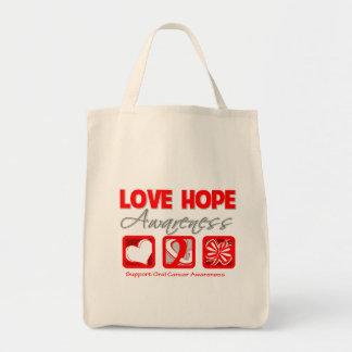 Cáncer oral de la conciencia de la esperanza del a bolsa tela para la compra