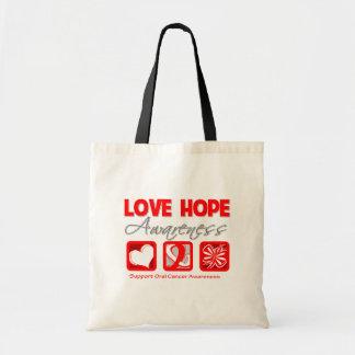 Cáncer oral de la conciencia de la esperanza del a bolsa tela barata