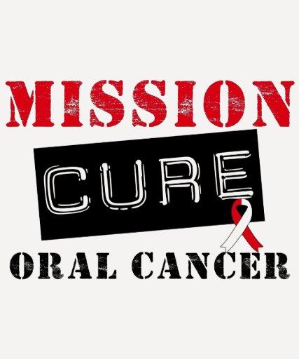 Cáncer oral de la curación de la misión camiseta