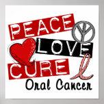 Cáncer oral de la curación del amor de la paz posters