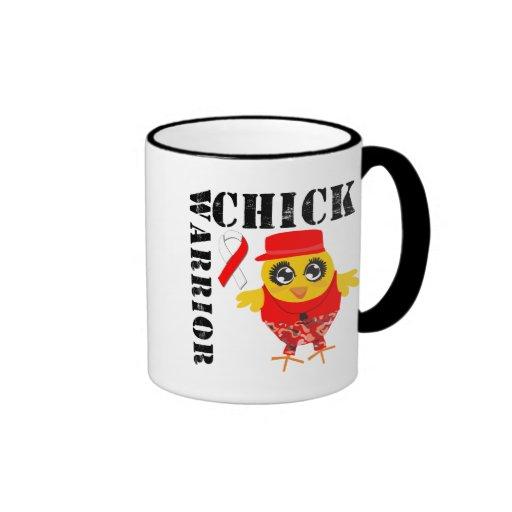Cáncer oral del polluelo del guerrero taza de café