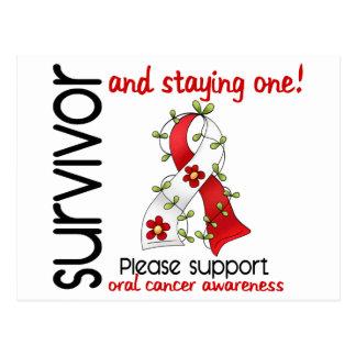 Cáncer oral del superviviente 9 tarjetas postales