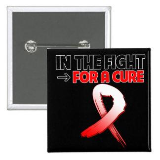 Cáncer oral en la lucha para una curación pin cuadrado