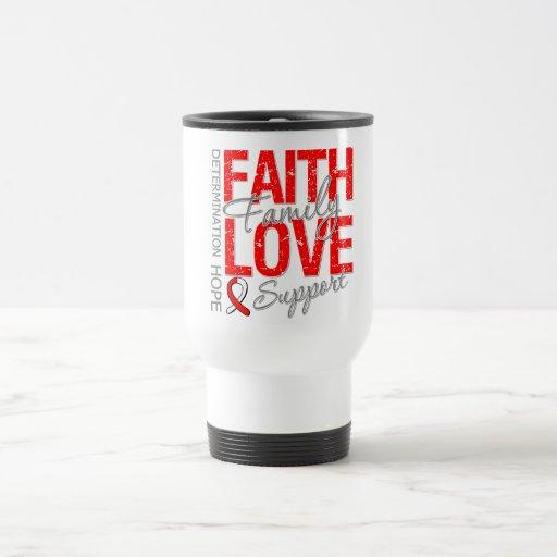 Cáncer oral inspirador del collage del lema del cá taza de café