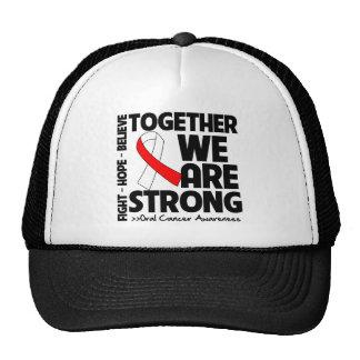 Cáncer oral juntos somos fuertes gorros bordados