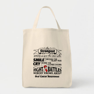 Cáncer oral más fuerte entre nosotros bolsa tela para la compra