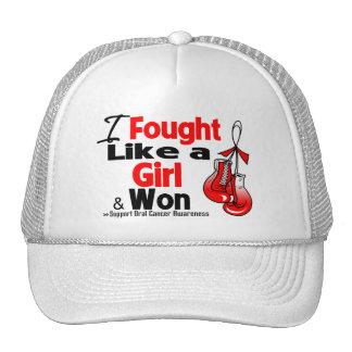 Cáncer oral que luché como un chica y que gané gorras de camionero
