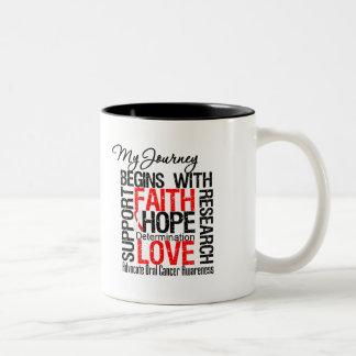 Cáncer oral que mi viaje comienza con la fe taza de café
