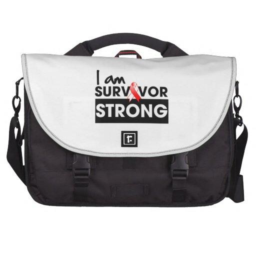 Cáncer oral soy superviviente fuerte bolsas de portátil