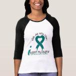 Cáncer ovárico apoyo a mi hija camiseta