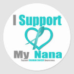 Cáncer ovárico apoyo a mi Nana Etiqueta Redonda