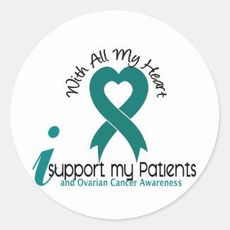 Cáncer ovárico apoyo a mis pacientes pegatinas redondas