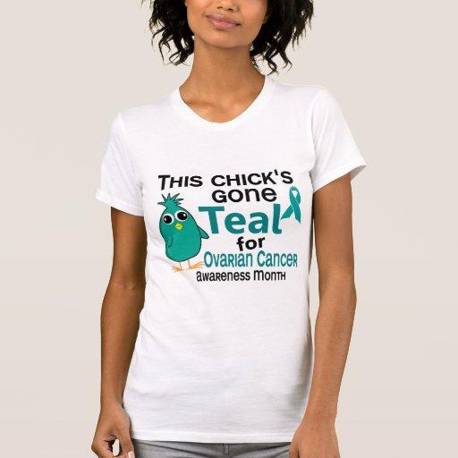 Cáncer ovárico conciencia mes polluelo 3 de camiseta