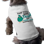Cáncer ovárico conciencia mes polluelo 3 de septie camisetas de perro