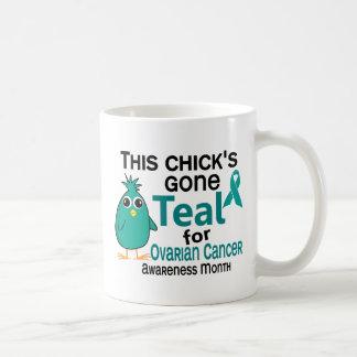 Cáncer ovárico conciencia mes polluelo 3 de septie taza de café