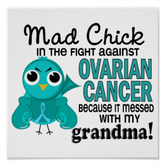Cáncer ovárico de la abuela enojada del polluelo 2 poster