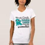Cáncer ovárico de la abuela enojada del polluelo 2 camiseta