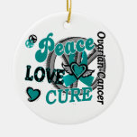 Cáncer ovárico de la curación 2 del amor de la paz ornamento de reyes magos
