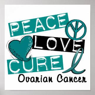Cáncer ovárico de la curación del amor de la paz impresiones