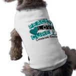 Cáncer ovárico de la curación del amor de la paz ropa para mascota